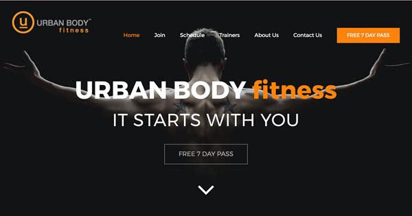 Urban Body Fitness website by TecAdvocates