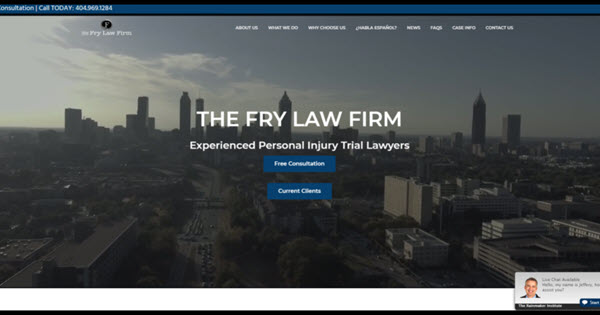 Attorney Website for The Fry Law Firm by TecAdvocates