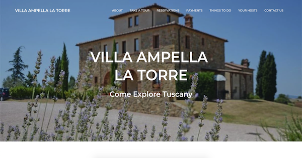 TecAdvocates website renovation for Tuscany Villa Ampella La Torre, a rental property in in the Province of Siena, Italy.