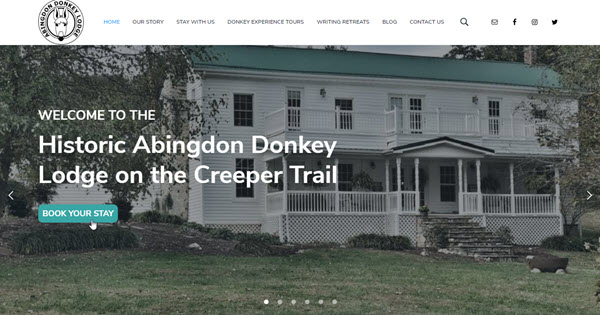 The Abingdon Donkey Lodge website by TecAdvocates